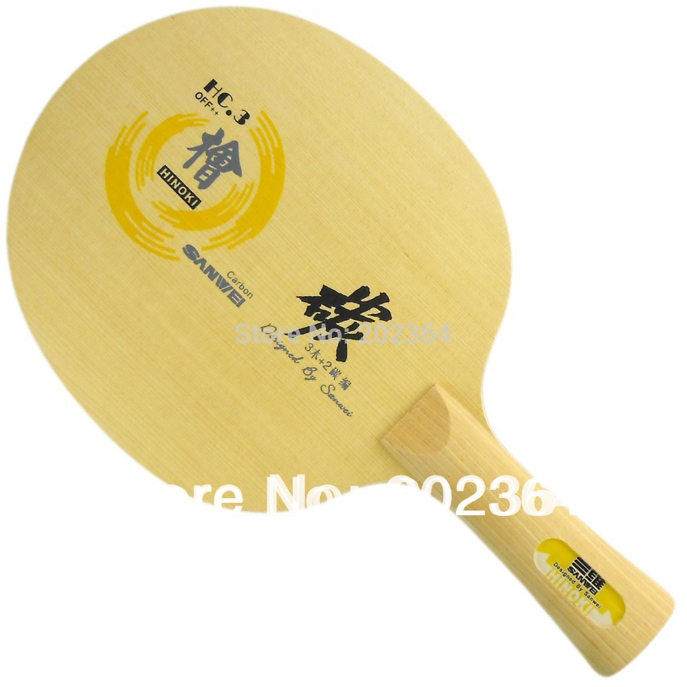 Sanwei HC.3 (HC-3, HC 3, HC3) HINOKI Carbon OFF++ Table Tennis Blade for PingPong Racket 3