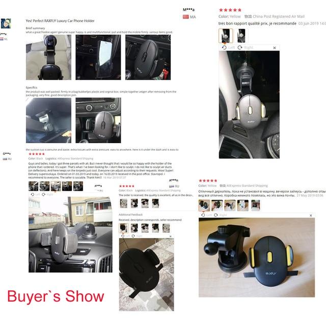 RAXFLY Luxury Car Phone Holder For iPhone 11 pro max  Windshield Car Mount Phone Stand Car Holder For Samsung s10 Telefon Tutucu 5