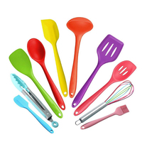10 pcs / set Kitchen Accessories Set Cooking Tools Colorful Silicone Cooking Utensils