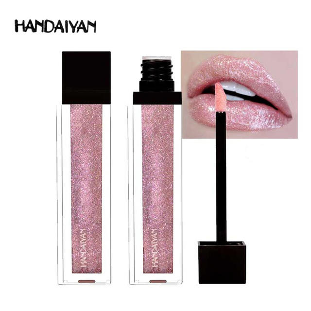 New Makeup HANDAIYAN Diamond Shining Glitter Lip Gloss Tint Long Lasting Waterproof Shimmer Liquid Velvet Lipstick Matte Beauty 1