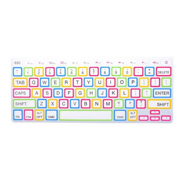 1 Pcs US White Large Letter Silicone Keyboard Protector