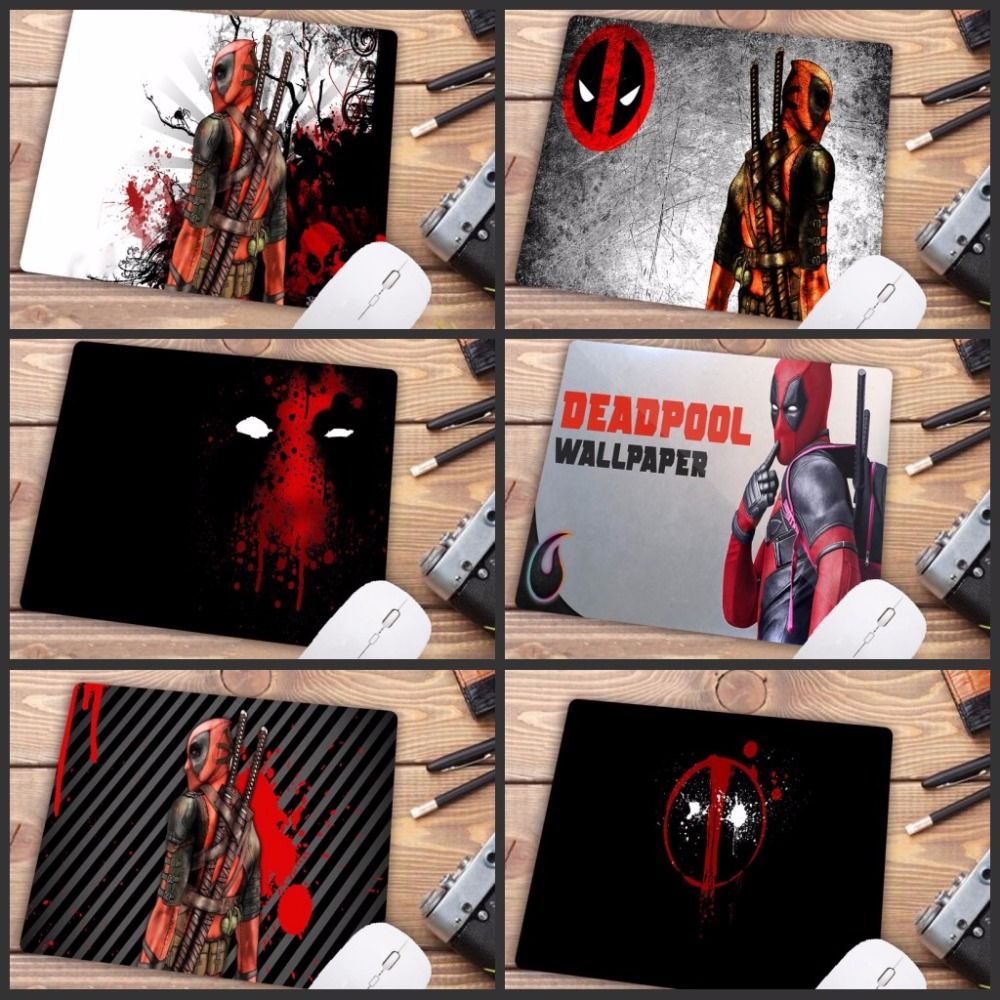 Big Promotion Deadpool Iron Man Movie High Speed Mousepad Gaming Mouse Pad Small Size Mouse Mat Keyboard Pad 22X18CM