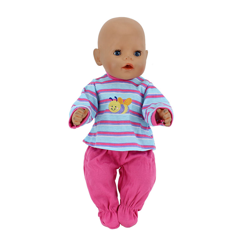 New Arrivals Dolls Suits Fit For 43cm Baby Born Zapf Doll Reborn Baby Clothes 17inch Doll Accessories rose christmas gift 18 inch american girl doll swim clothes dress also fit for 43cm baby born zapf dolls