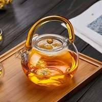 850ml Glass teapot thickening glass high temperature cooking tea glass with filter flower teapot boiled teapot