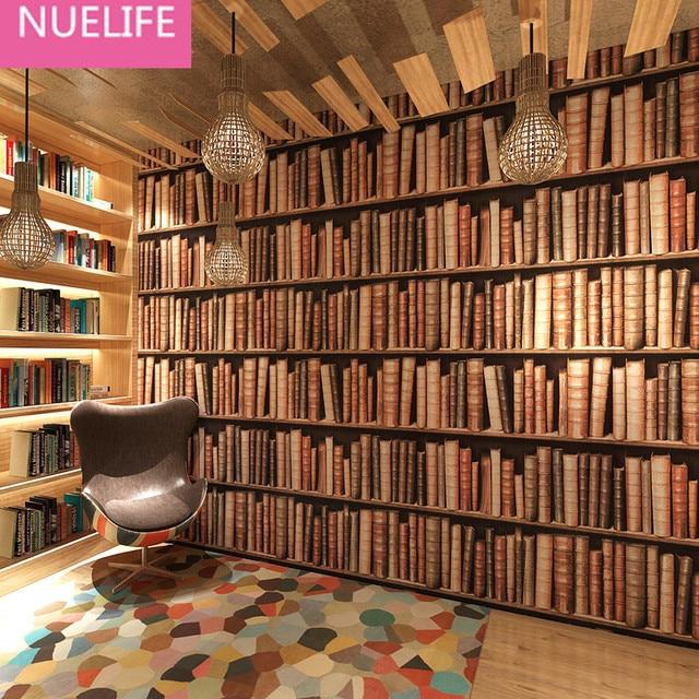 0,53x10 Mt Bücherregal Tapete 3d Stereo Chinesischen Tapete Europäischen  Studie Wohnzimmer Bibliothek Eingang Dekoration
