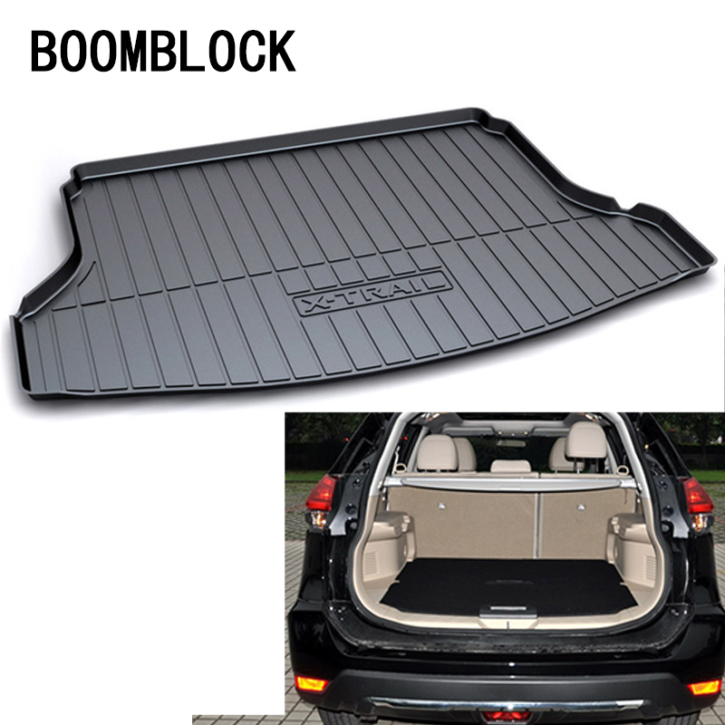 BOOMBLOCK For X-trail T32 Nissan X trail 2018 2017 2016 2015 2014 Waterproof Anti-slip Car Trunk Mat Tray Floor Carpet Pad цены