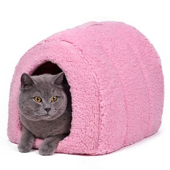 Wholesale Price Cat House and Pet Beds 5 Colors Beige and Red Purple Khaki Black