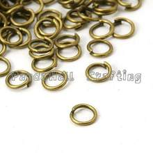 Pandahall Iron Jump Rings, Antique Bronze<P>Size: about 5mm in diameter, 0.7mm thick; about 191pcs/10g.(China)