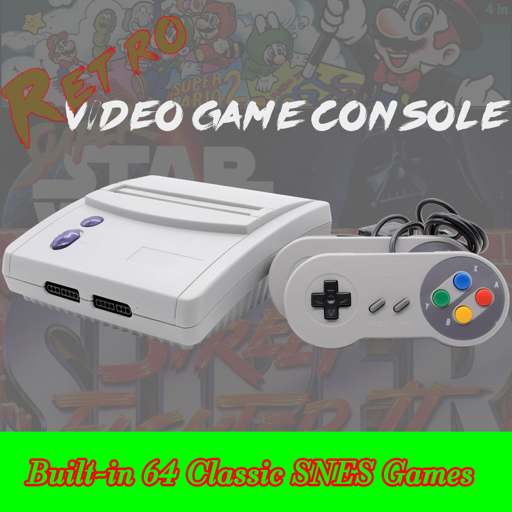 CIVANCA 16 Bit Retro Video Game Console NTSC version and PAL Built in 64 SNES Games for SNES Game Cartridges nintendo gba video game cartridge console card metroid fusion eng fra deu esp ita language version