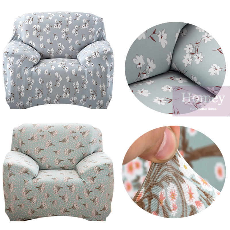 Leather Or Fabric Sofa With Dogs: Case Printed Sofa Cover Floral Colorful Fabric Couch
