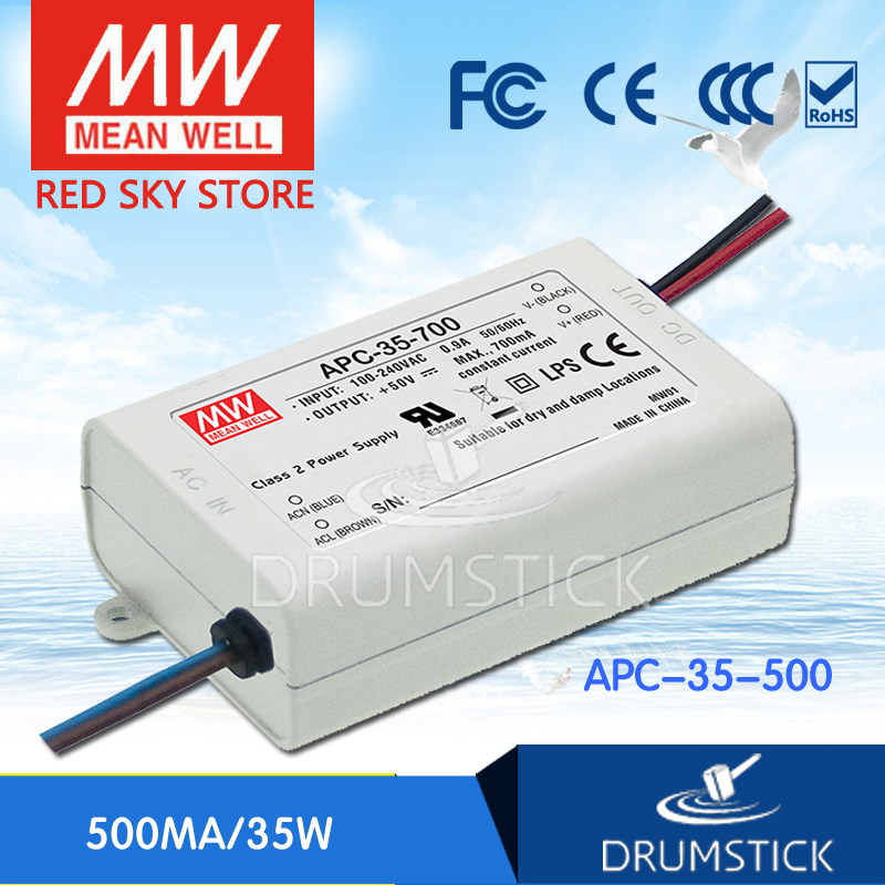Best-selling MEAN WELL APC-35-500 70V 500mA meanwell APC-35 70V 35W Single Output LED Switching Power SupplyBest-selling MEAN WELL APC-35-500 70V 500mA meanwell APC-35 70V 35W Single Output LED Switching Power Supply