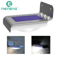 Nieneng Solar Lights 16 LED Solar Power Motion Sensor Garden Security Lamp Outdoor Waterproof Light Garden