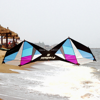 Профессиональный трюк воздушных змеев открытый Мощность кайт 4 линии Пляж Кайт с развевающимися инструмент линия обрабатывает