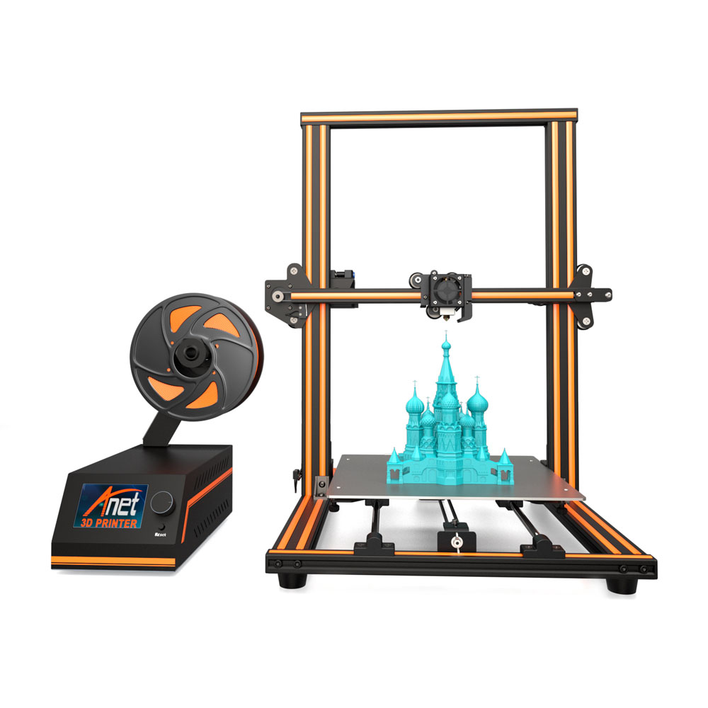 "Ship From US 3D Printer 11.8"" x 11.8"" x 15.7"" Pro Printing Large Print Size Full Color DIY Assembled Nozzle Heat Bed New(China)"