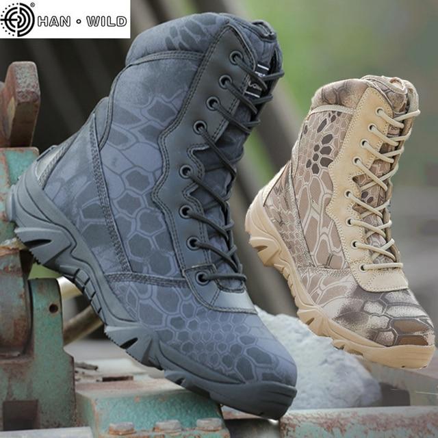 Männer Military Tactical Armee Stiefel Herbst Runde Kappe Reißverschluss Leder Reise Casual Wüste Schuhe Männlichen Kampf Knöchel Boot Herren