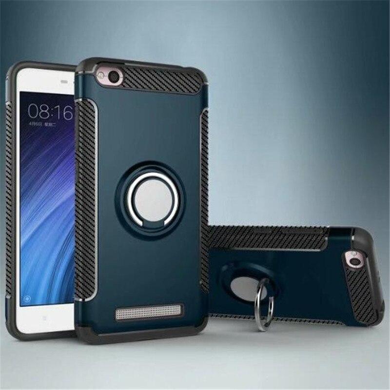 For xiaomi redmi 4A case Hybrid Shockproof Finger Ring Armor Case Holder Magnetic Car Holder non slip for redmi 4A