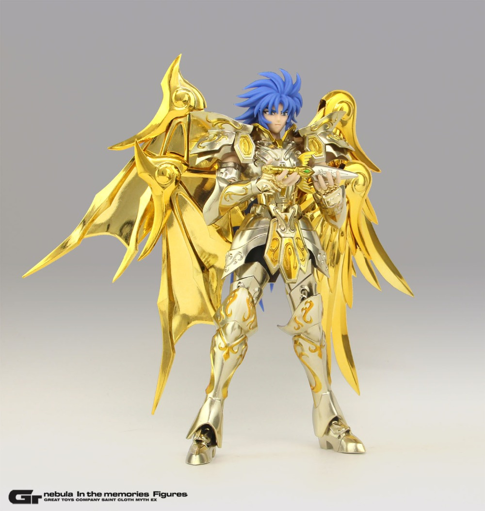In Stock GREAT TOYS Gemini Saga Soul Of Gold Divine Armor Saint Seiya Myth Cloth EX SOG Action Figure Model With Kanon Head