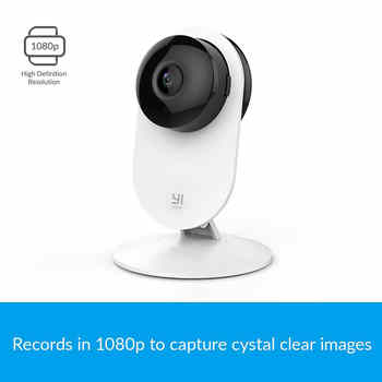 [International Edition]Xiaoyi YI 1080P Home Camera Night Vision Motion/Baby Crying Detection 111 Degree Built-in MIC 2 Way Audio