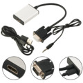 wholesale VGA To HDMI Output 1080P HD + USB Audio TV AV HDTV Video Cable Converter Adapter