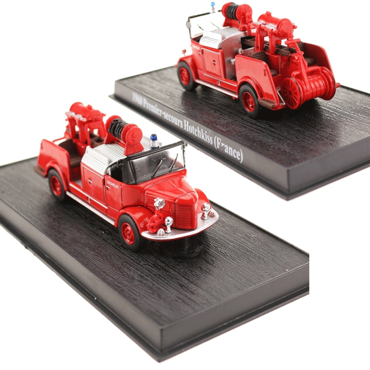 1//64 Fire Truck 1960 Premier-secours Hotchkiss FRANCE Diecast Models Toys Red