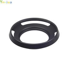 10 stks/partij 40.5mm Black Geventileerd Gebogen Metalen camera zonnekap voor S & ny camera