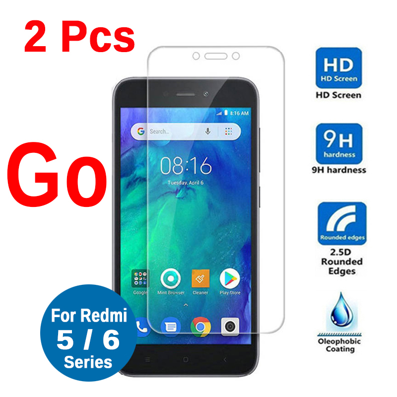 Protective Glass On Redmi Go Tempered Glass For Xiaomi Redmi 5A 6A 5 Plus Note 5 6 Pro 5+ Note5 Screen Protector Glass Film