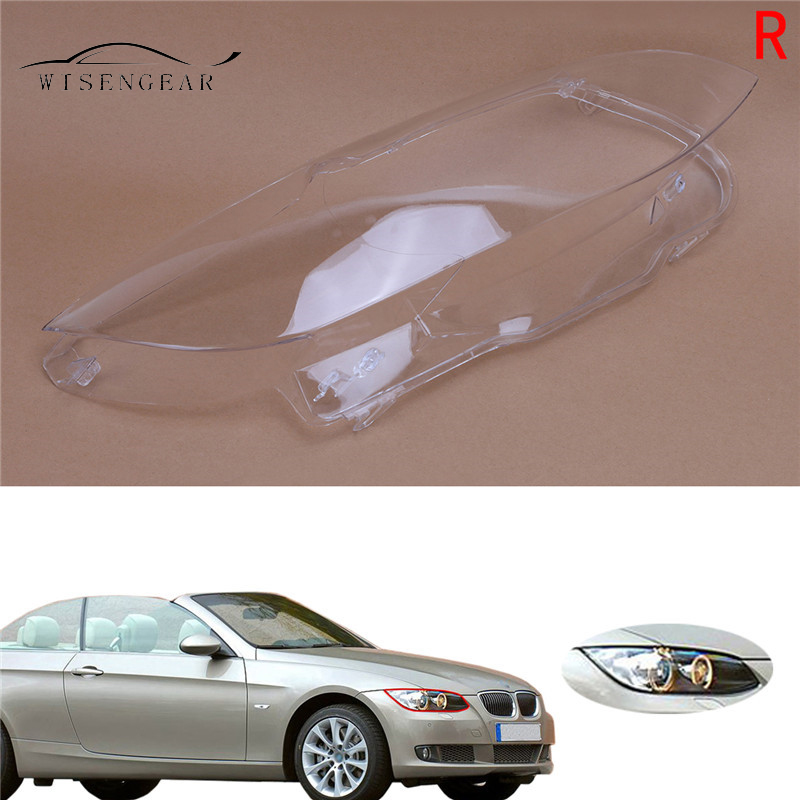 WISENGEAR For BMW Right Headlight Headlamp Cover Clear Lens E92 Coupe E93 Convertible M3 2 Door 3 Series 328i 335i 2006 - 2010 bmw m3 e30 coupe
