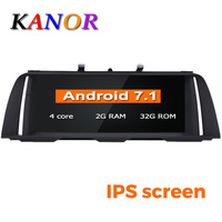 KANOR 10.25 Quad Core Android 7.1 2+32g IPS Car multimedia for BMW 5 Series F10 F11 2011 2012 with NBT or CIC GPS Navigation