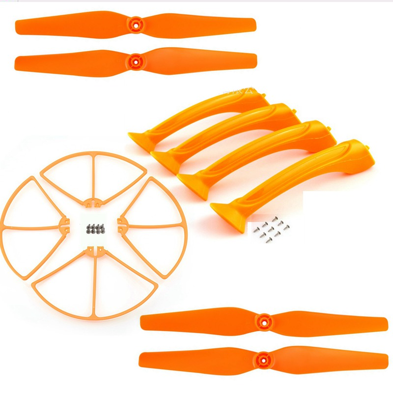 Rc Drone Spare Parts Blade Landing Gear Propeller Protection For Syma X8c X8w X8g X8hc X8hg Quadcopter Accessories Propeller Kit for syma x8c x8w rc quadcopter spare part blade propeller protection frame protector bumper 4pcs free shipping