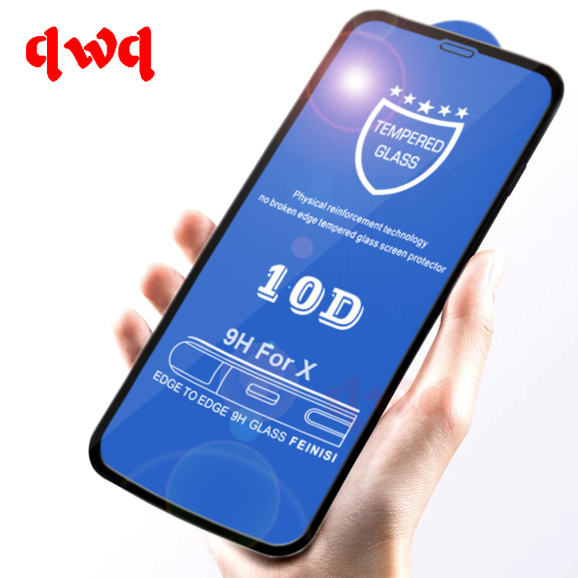 the best attitude a92a4 3c366 US $1.8 32% OFF|10D Curved Full Cover Tempered Glass For iPhone X Xs XR  Premium Screen Protector On The For iPhone 7 8 6 Plus Xs Max Glass Film-in  ...