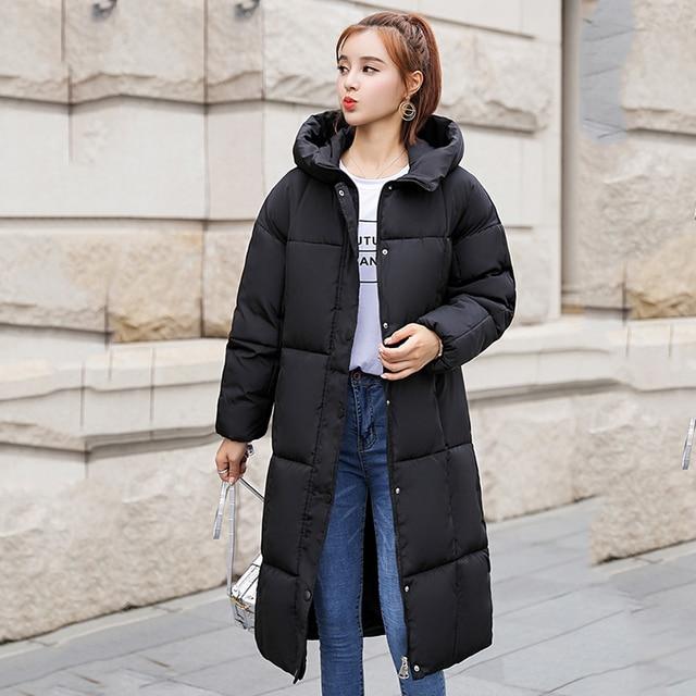 Kpop Harajuku 2018 New Winter Down Parka Ulzzang Women Down Jacket Coat Cotton Padded Parka Woman Chic Thickened Down Jackets