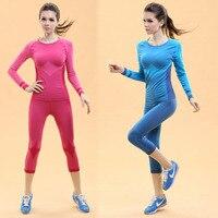Phụ nữ áo + quần short yoga đặt quần áo tập thể dục thể dục thể thao phù hợp cho phụ nữ nữ phòng tập thể dục quần lót Pilates chạy mỏng xà cạp + áo sơ mi
