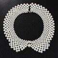 17 km simulado collar de perlas collar hecho a mano choker collar joyería al por mayor!