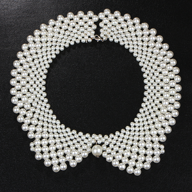 17KM Handmade Simulated Pearl Collar Necklace Choker Necklace Jewelry Wholesale !