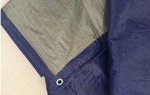Thin and light 100g 6mx8m blue and gray tarpaulin waterproof tarp outdoor dust cloth