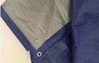 Ultralight 100g 6mx8m Blue And Gray Tarpaulin Short Time Waterproof Tarp Outdoor Dust Cloth Canvas