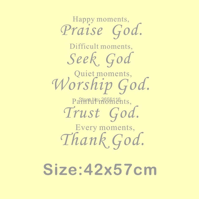 Online Shop Christian Quotes Wall Decal for Living Room Happy ...