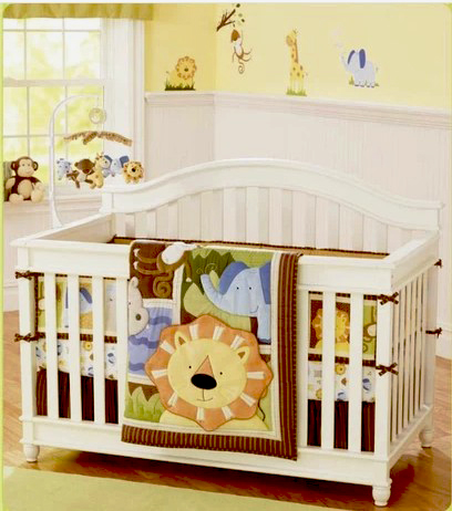 Us 100 25 21 Off 8 Pc Crib Infant Room Kids Baby Bedroom Set Nursery Bedding Brown Orange Lion Cot For Newborn Boy In Sets