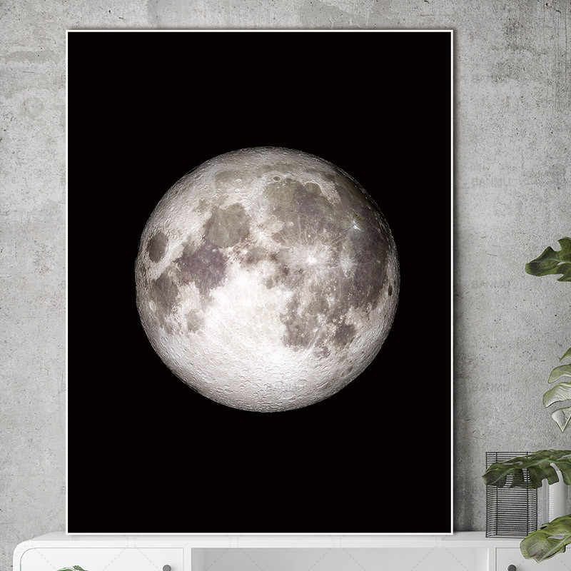 Wall art  Pictures abstract painting art Wall poster prints moon on canvas home decoration for living room Canvas Painting