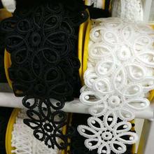 Оптовая продажа 100 ярдов кружевная ткань с вышивкой отделка