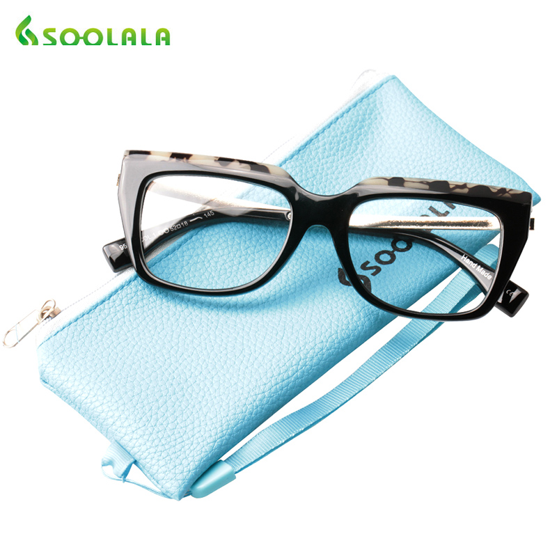 SOOLALA Big Frame Reading Glasses Women Men Fashion Eyeglasses Big Vision Full Rimmed Presbyopic Glasses Men +0.5 To 4.0