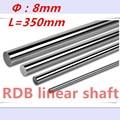 Impressora de 2 pcs 3D linear eixo 8mm 350mm trilho linear L350 mm cromado trilho de guia de movimento linear redonda rod shaft para cnc