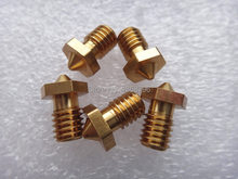 Grosir 5 pcs/lot 3D Printer Nozzle Full Metal M6 ulir Nozzle 0.2mm/0.3mm/0.4mm Untuk 1.75mm DIY Reprap Makerbot(China)