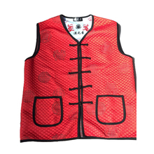 YUNQING 2019 Fashionable New Type Of Mid-aged And Old Chinese Elements V-Neck Vest Tang Costume Keep Warm Red Casual