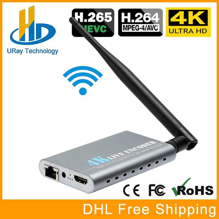 Wireless HEVC H.265 H.264 4K Ultra HD HDMI Video Streaming Encoder WiFi RTSP UDP RTMP Encoder IPTV Support Video Record Capture