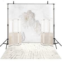 Wedding Photography Backdrop White Vinilo Vinyl Backdrop For Photography Floral Background For Photo Studio Fotohintergrund