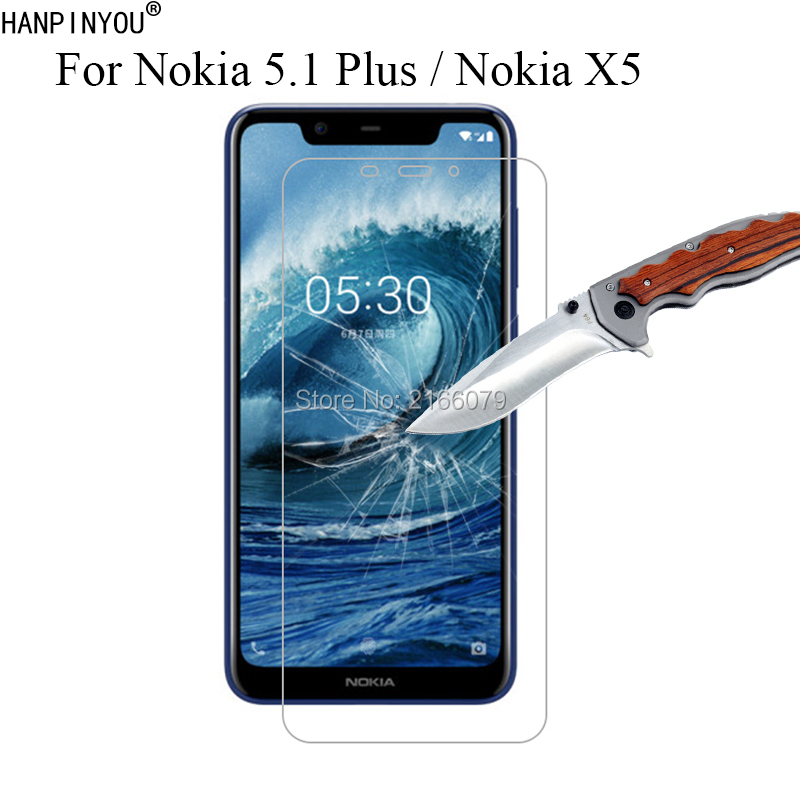1 Pc / 2 Pcs 9H 2.5D Tempered Glass Screen Protector For Nokia 5.1 Plus / Nokia X5 5.86