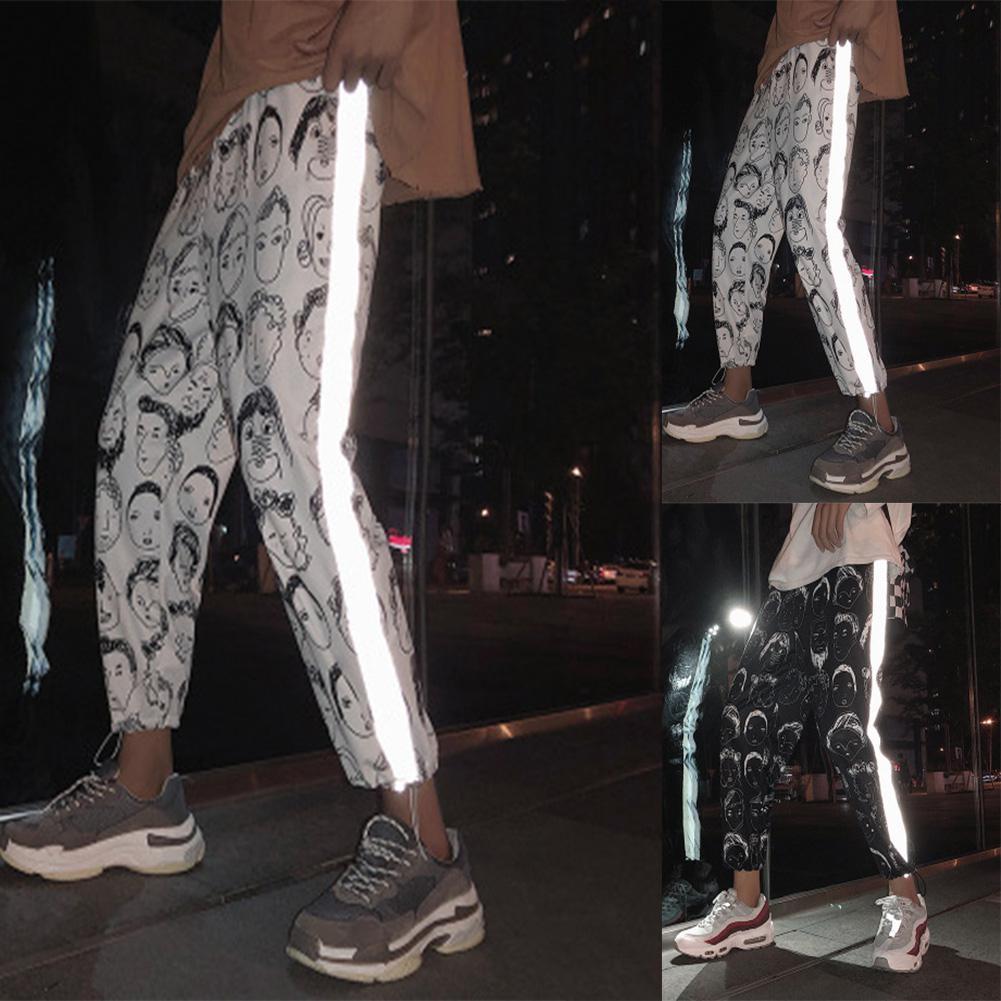 HobbyLane All Matching Unisex Hip Hop Sport Slacks Fashion Comic Pattern Ninth Pants