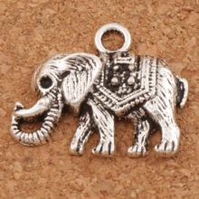 Mammoth Elephant Charms Pendants 24x19 mm 100pcs Antique Silver Jewelry DIY Fit Bracelets Necklace Earrings L1187 antique silver te tra gram ma ton star pendants wizard necklace