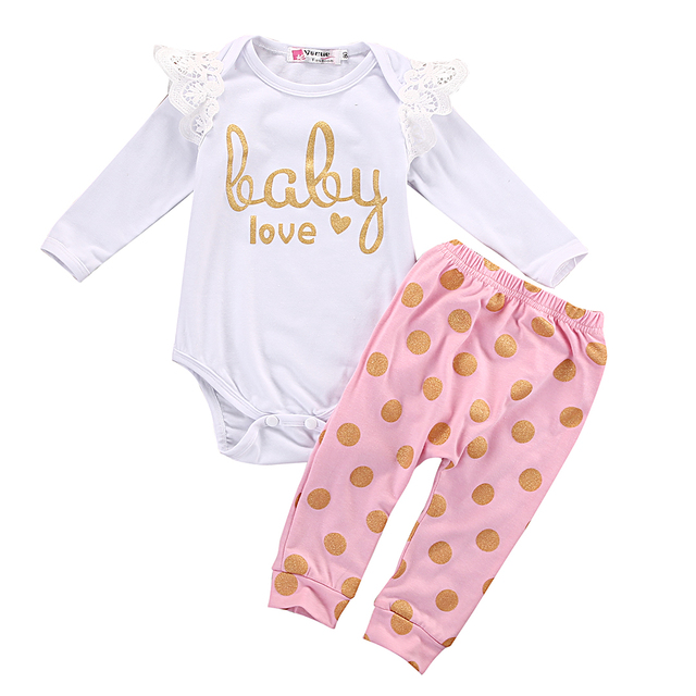 0a78e190f299 Toddler Infant Newborn Baby Girls Clothes Set Romper Long Sleeve Cotton  Pants Jumpsuit Bodysuit Clothing Baby Girl Outfits